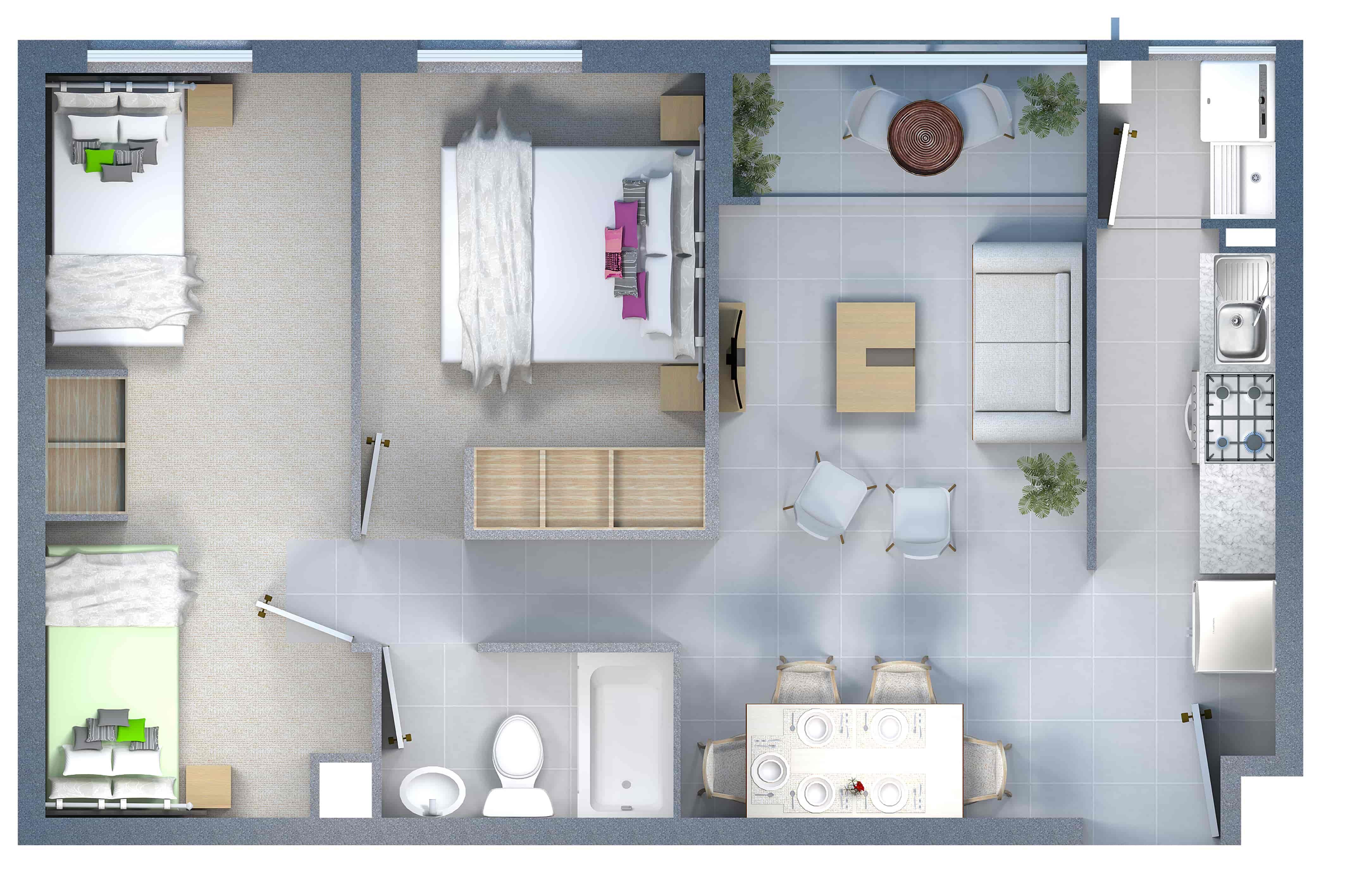 Cm4 Francisco de Aguirre 2 dormitorios y 1 baño